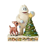 Rudolph Jim Shore Figure - Rudolph with Bumble and Tree