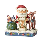 Rudolph Jim Shore Figure - Santa's Christmas List