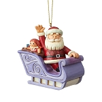 Rudolph by Jim Shore Ornament - Santa in Sleigh