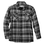 Disney Men's Flannel Shirt - Stormtrooper - Imperial Crest - Star Wars