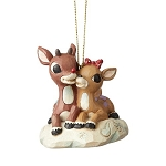Rudolph by Jim Shore Ornament - Rudolph and Clarice