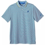 Disney Men's Shirt - Mickey Mouse Performance Polo by Nike - Navy Stripe