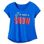 Disney Women's Shirt - I'm Such A Snow