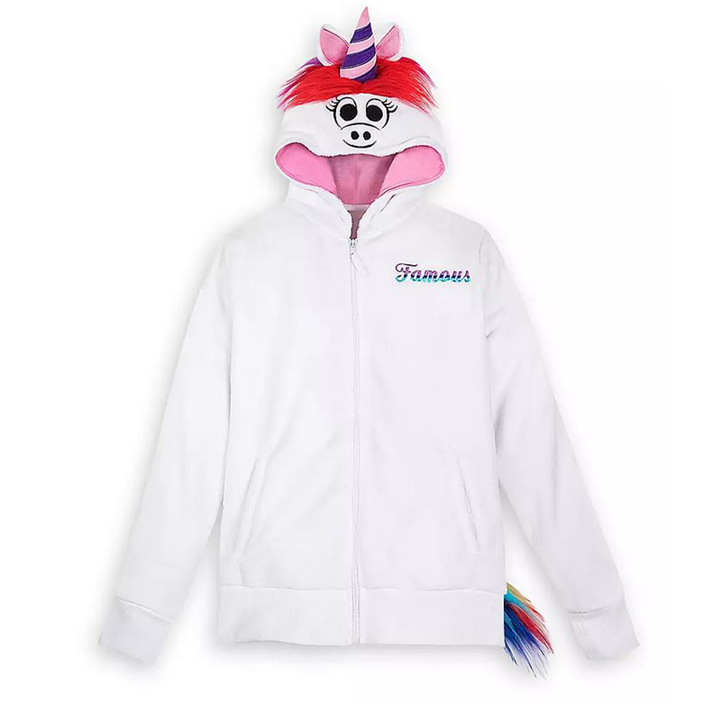 Disney Women's Plush Hoodie - Rainbow Unicorn