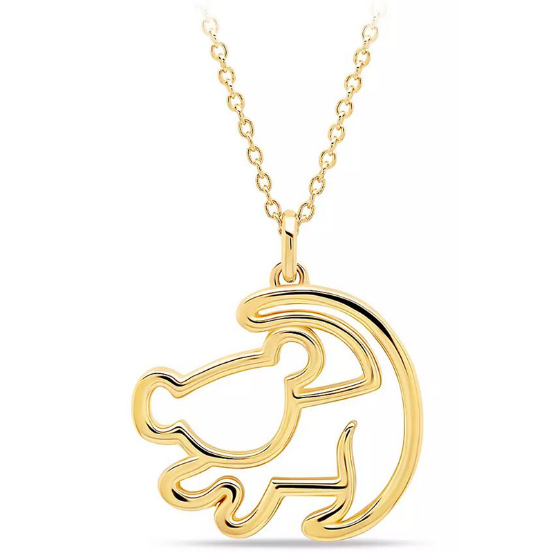 Adorable NEW Disney THE LION KING Simba Lion Dainty Charm Necklace
