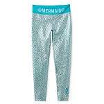 Disney Women's Leggings - Ariel Mermaid Scales - Metallic