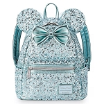 Disney Loungefly Mini Backpack - Minnie Mouse Icon - Arendelle Aqua - Sequin