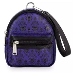 Disney Loungefly Bag - The Haunted Mansion Wallpaper - Backpack Wristlet