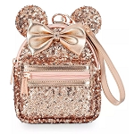 Disney Loungefly Bag - Minnie Sequin - Briar Rose Gold Wristlet