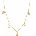 Disney Crislu Charm Necklace - Mickey Mouse and Friends
