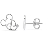 Disney Crislu Earrings - Mickey Mouse Profile