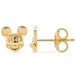 Disney Crislu Earrings - Mickey Mouse Face - Gold