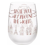 Disney Stemless Wine Glass - Taste Your Way Around the World - Epcot Food & Wine Festival 2019