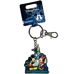 Disney Keychain / Keyring - Mickey Minnie Castle Blue WDW