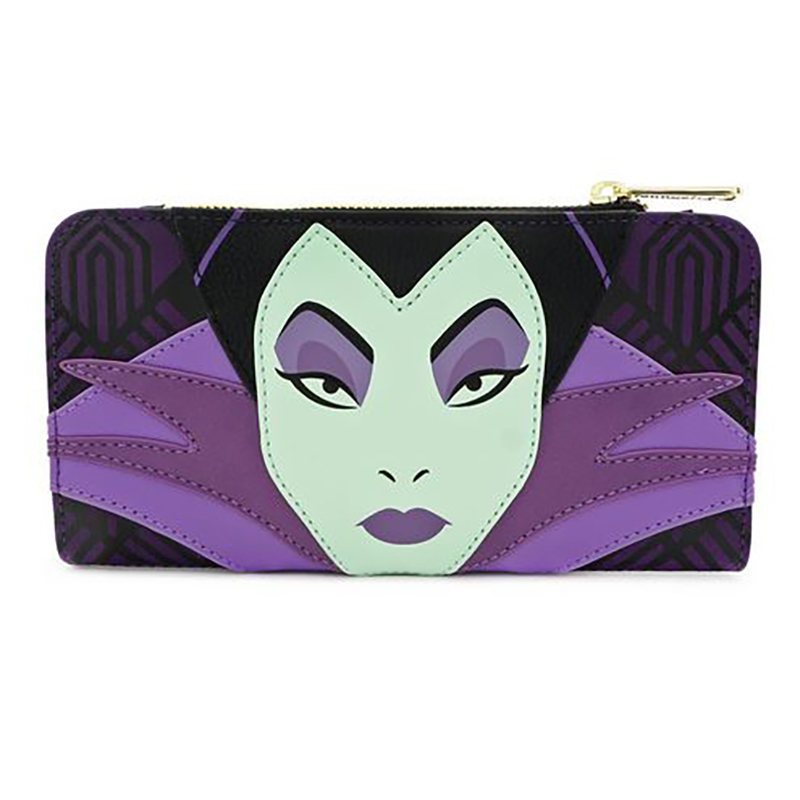 Disney Loungefly Bag Maleficent Head Wallet