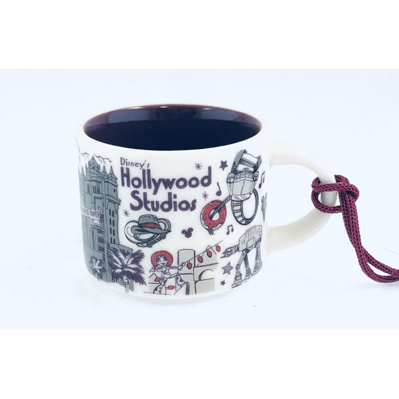 Disney Holiday Ornament - Starbucks Mug Hollywood Studios