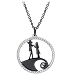 Disney Crislu Necklace - The Nigjtmare Before Christmas - Jack & Sally Sweethearts