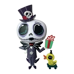 Disney World of Miss Mindy Vinyl Figure - Jack Skellington with Present