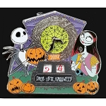 Disney Pin w/ Easel - Halloween Countdown - Jack & Sally - Limited Edition Mini Jumbo