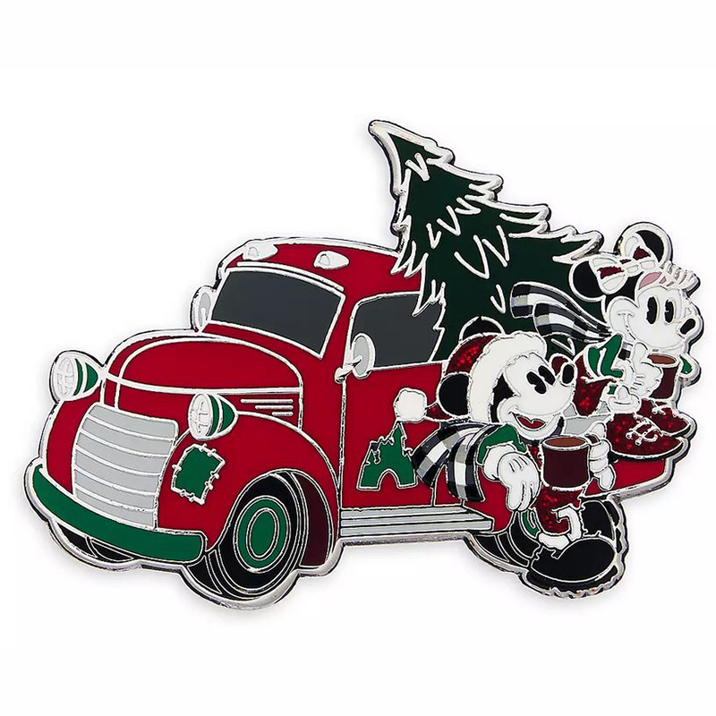 Disney Pin - Mickey & Minnie Mouse - Holiday Truck