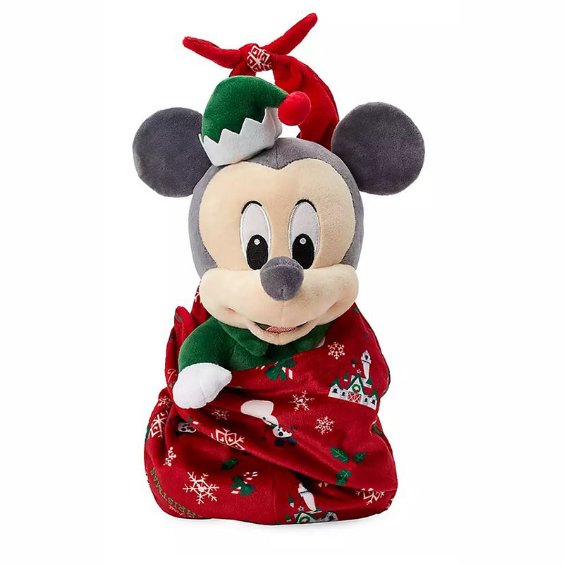 Disney Babies Plush - Baby Holiday Mickey with Blanket Pouch - 1st Christmas Castle