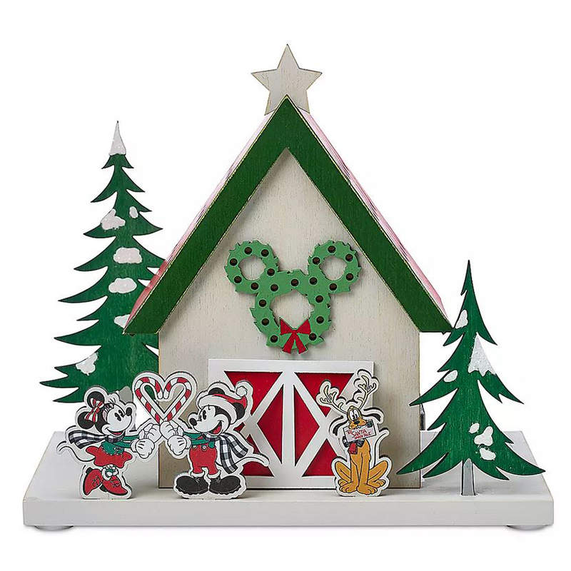 Disney Light-Up Decoration - Mickey's & Friends Holiday Barn - Yuletide Farmhouse