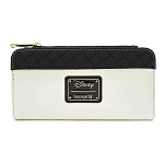 Disney Loungefly Bag - Black & White Mickey & Minnie Debossed Heads - Wallet