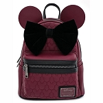 Disney Loungefly Bag - Minnie Mouse Maroon Quilted Mini Backpack