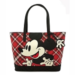 Disney Loungefly Bag - Mickey Mouse Red Plaid Twill Tote
