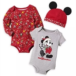 Disney Baby Bodysuit Set - Holiday Mickey Mouse - Yuletide Farmhouse