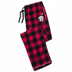 Disney Men's Pajama Pants - Santa Mickey Mouse Holiday Plaid - Yuletide Farmhouse