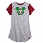 Disney Women's Nightshirt - Mickey Mouse Holiday - Yuletide Farmhouse