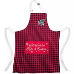 Disney Apron - Mickey Mouse Holiday - Yuletide Farmhouse - Will Work For Milk & Cookies
