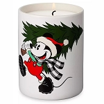 Disney Scented Wax Candle - Mickey & Minnie Holiday - Yuletide Farmhouse - Fresh Cut Pine