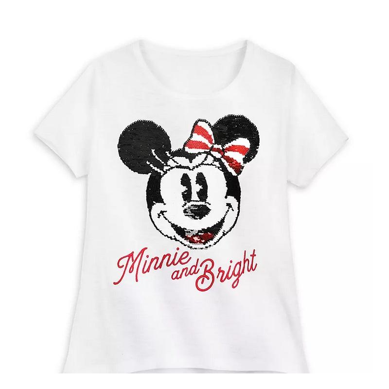 Animal Kingdom Christmas Shirt.Disney Girls Shirt Minnie Mouse Holiday Reversible Sequin