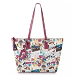Disney Dooney & Bourke Tote Bag - Sketch 10th Anniversary - Pink Trim