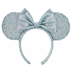 Disney Minnie Mouse Ear Headband - Arendelle Aqua - Sequined