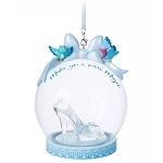 Disney Globe Ornament - Cinderella Glass Slipper