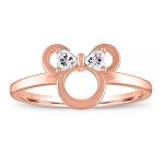Disney Rebecca Hook Ring - Minnie Mouse Icon - Rose Gold