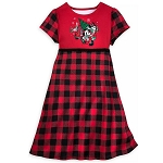 Disney Girls Nightshirt - Mickey & Minnie Plaid Holiday - Yuletide Farmhouse