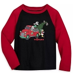Disney Boys Pajama Shirt - Mickey Mouse & Friends Holiday - Yuletide Farmhouse