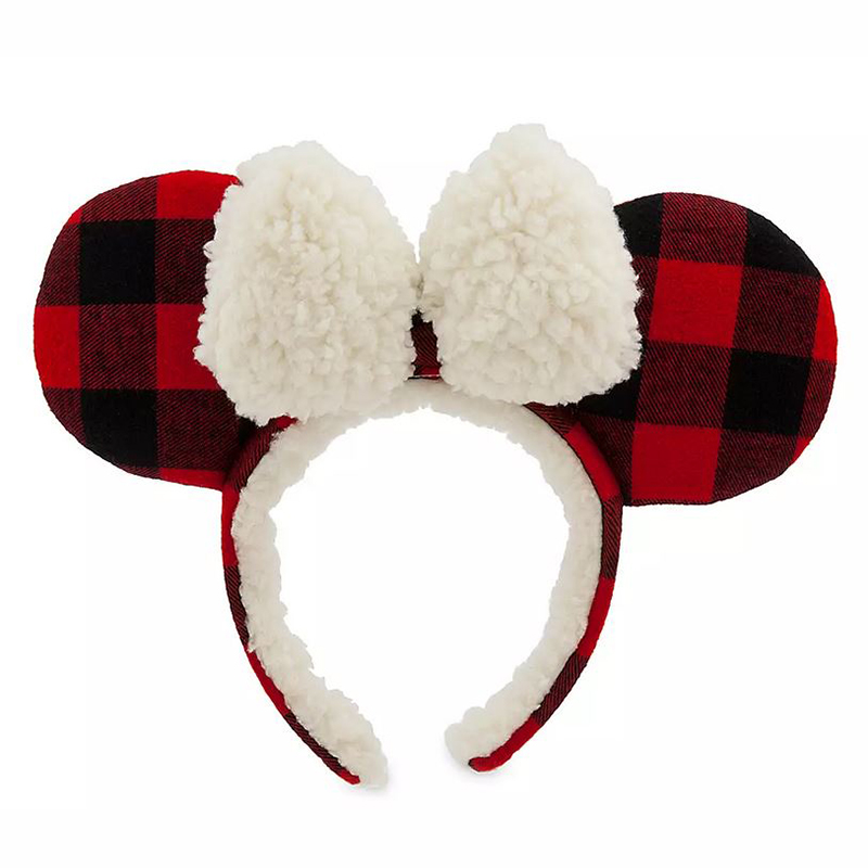 Disney Minnie Ear Headband - Holiday Plaid