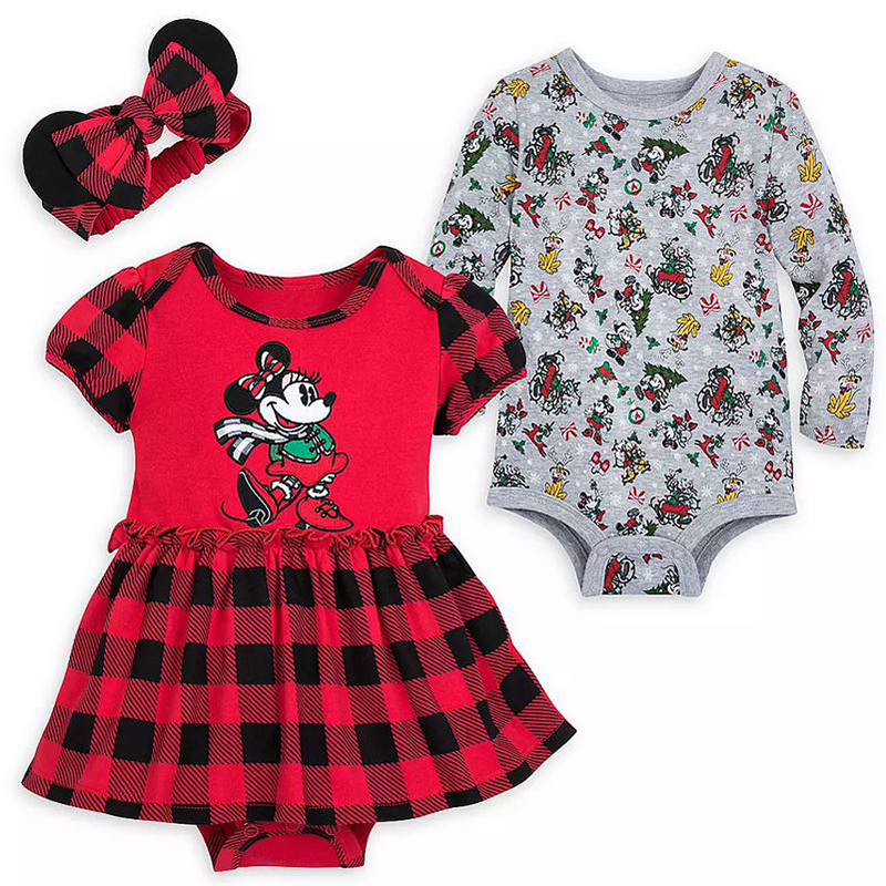 Disney Baby Bodysuit Set - Minnie Mouse Holiday