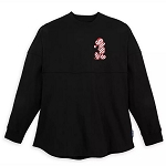 Disney Women's Shirt - Spirit Jersey - Mickey Mouse Holiday - Candy Cane