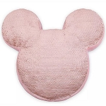 Disney Plush Pillow - Mickey Mouse Icon Reversible Sequin - Briar Rose Gold