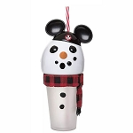 Disney Tumbler Cup w/ Straw - Mouseketeer Snowman - Light Up