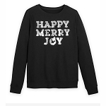 Disney Women's Shirt - Happy Merry Joy Tinsel Pullover