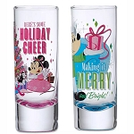 Disney Shooter Shot Glass Set - Mickey & Minnie Retro Holiday Toothpick Holders