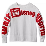 Disney Women's Pullover - Walt Disney World - Red Holiday Satin