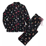 Disney Women's Pajama Set - Mickey & Minnie Mouse Holiday